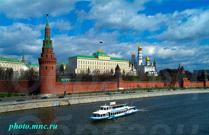 Москва московский кремль москва река